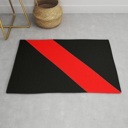 Oblique red and black Rug