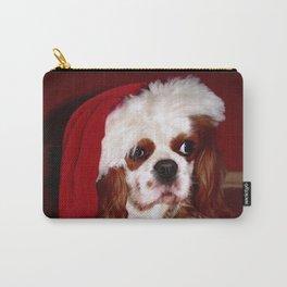 Santa Cavalier Spaniel Puppy Carry-All Pouch