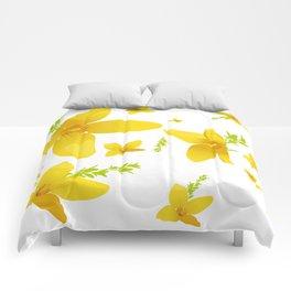 Forsythia flowers Comforters