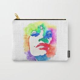 Stencil Watercolor Portrait   Stencil Portrait Watercolor Art Carry-All Pouch