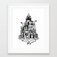 rap Framed Art Prints featuring Rap God by Reducto