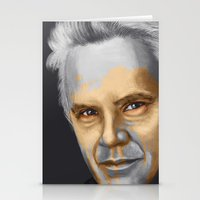 tim shumate Stationery Cards featuring Tim Robbins by Pazu Cheng