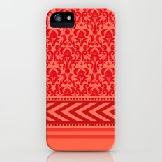 DAMASK | coral peach iPhone (5, 5s) Slim Case