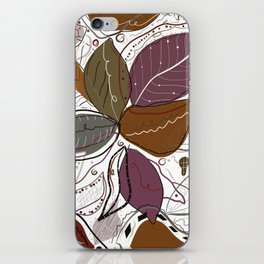 Active Wear Abstract Leaves Pattern iPhone Skin