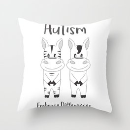 Autism Embrace Differences Throw Pillow