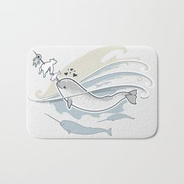 The Friendly Narwhal Bath Mat