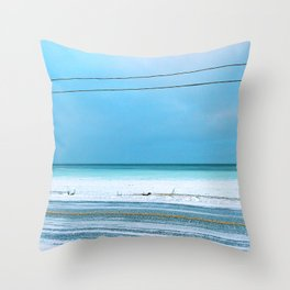 The Cold After the Storm Throw Pillow