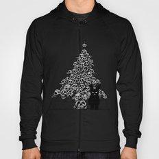 The Black Bunny of Doom and his Skull Christmas tree Hoody