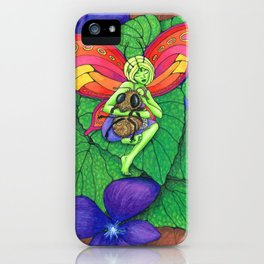 Fairy and Bee iPhone Case