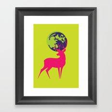 Electro deer Framed Art Print