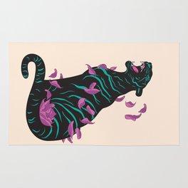 Black tiger Rug