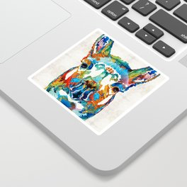 Colorful Llama Art - The Prince - By Sharon Cummings Sticker