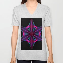 Abstract geometric shape  - rotating elements of lines and circles. Unisex V-Neck