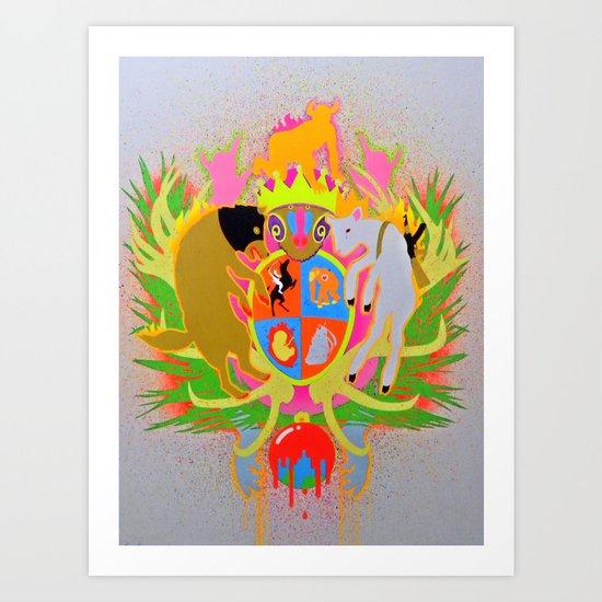 """XRAY CREST"" Art Print"