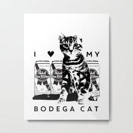 I ♥ My Bodega Cat Metal Print