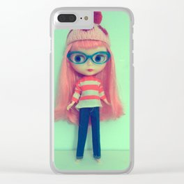 heart toquee Clear iPhone Case