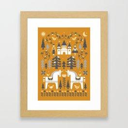 Yellow + Gray Fairy Tale Framed Art Print