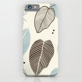 Leaves - Mid Century Modern iPhone Case