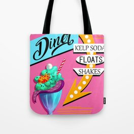 Limited Edition Undersea Mermaid Diner Poster! Tote Bag