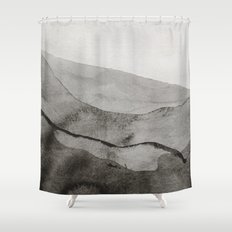 Ink Layers Shower Curtain