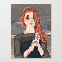 hayley williams Canvas Prints featuring Hayley by Clementine Petrova