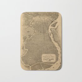 Map of Philadelphia 1870 Bath Mat