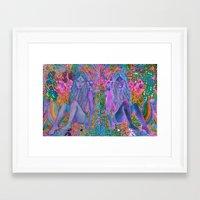 hologram Framed Art Prints featuring hologram by flower