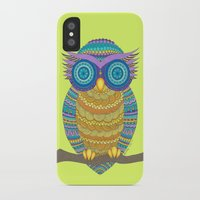 henna iPhone & iPod Cases featuring Henna Owl by haleyivers