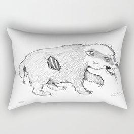 Zombadger Rectangular Pillow