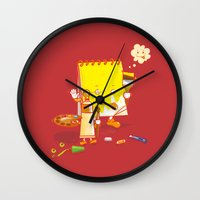 make up Wall Clocks featuring MAKE UP by Wantz