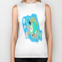 steam punk Biker Tanks featuring Whimsical Steam Punk Fish by J&C Creations