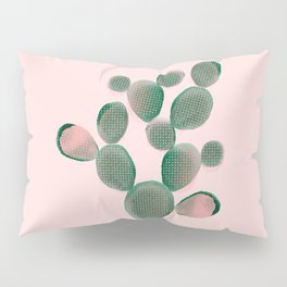 Watercolored Cactus on Pink Pillow Sham