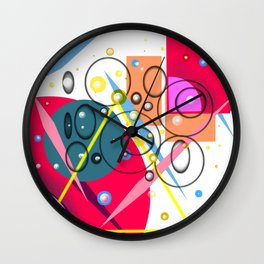 Graphic design,abstract art Wall Clock