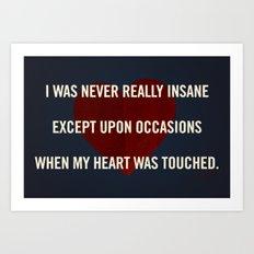Insane Love Art Print