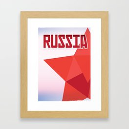 Russia Red Star Framed Art Print