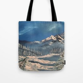 Ice Fields - winter day Tote Bag