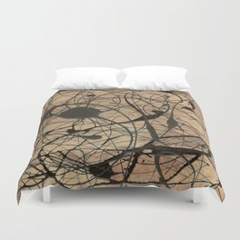 Pollock Inspired Cool Abstract Splatter Drip Painting Duvet Cover