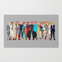 Rock Stars Heroes LV Gray Canvas Print
