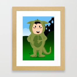 Dragon boy Framed Art Print