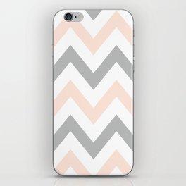 PEACH & GRAY CHEVRON iPhone Skin