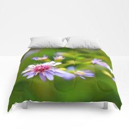 Purple Space Ship Comforters