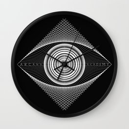 Arcana Academy - no curve Wall Clock