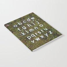 Alphabet Moss Poster Notebook