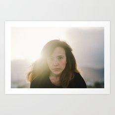 sunset portrait Art Print