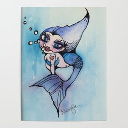 Mindy the Mermaid Poster