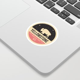 Yellowstone National Park Badge Sticker