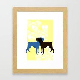 Retro Boxer Framed Art Print