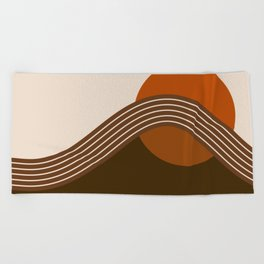 Cocoa Sundown Stripes Beach Towel