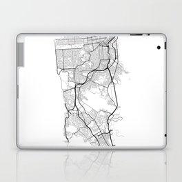 Minimal City Maps - Map Of San Francisco, California, United States Laptop & iPad Skin