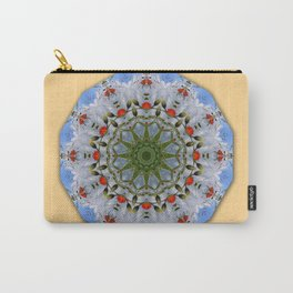 Flower Mandala, Red Poppies Carry-All Pouch
